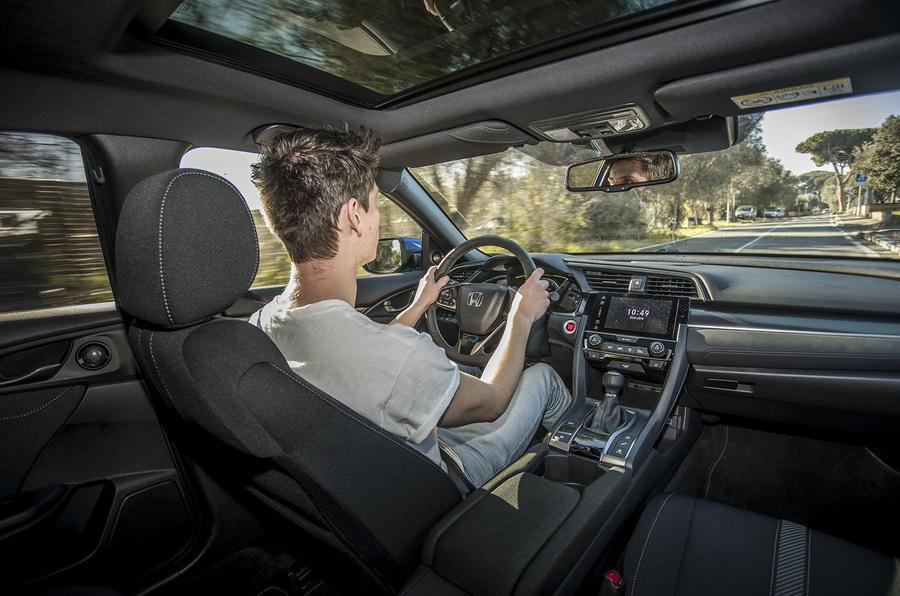 Honda Civic diesel simon davis driving interior
