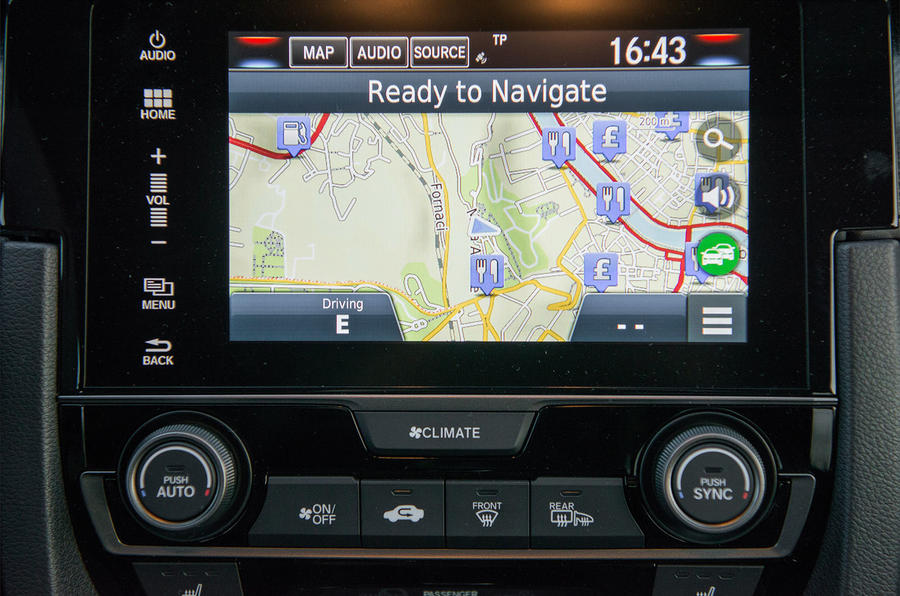 Satellite navigation Honda Civic diesel