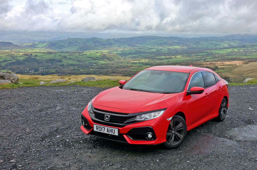 Honda Civic driven up to Wales