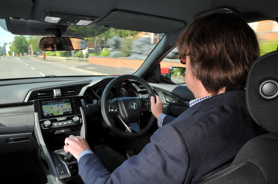 Mark Pearson driving the Honda Civic