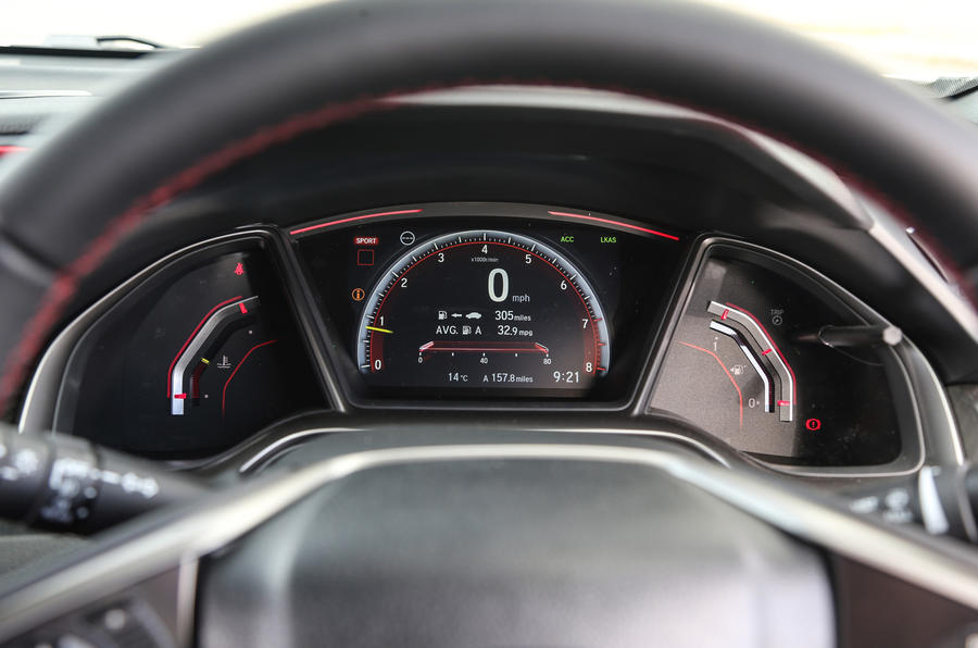 Honda Civic Type R instrument cluster