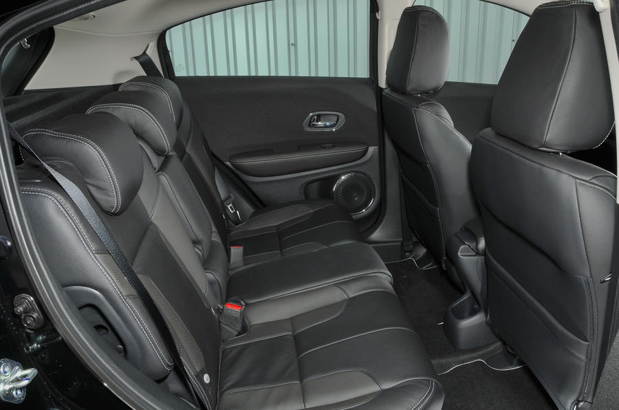 Honda HR-V Black Edition rear seats