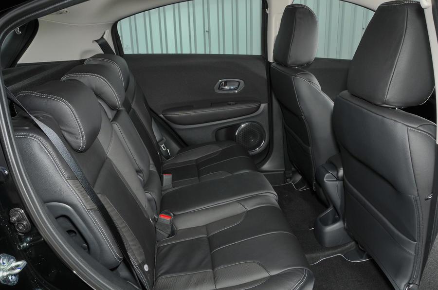 Honda HR-V Black Edition rear seats