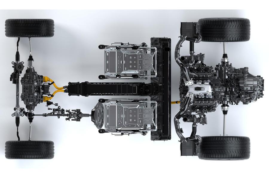 Honda NSX hybrid powertrain