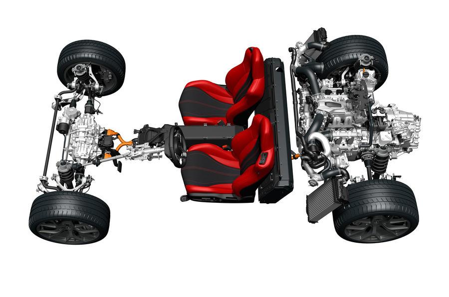 Honda NSX powertrain layout