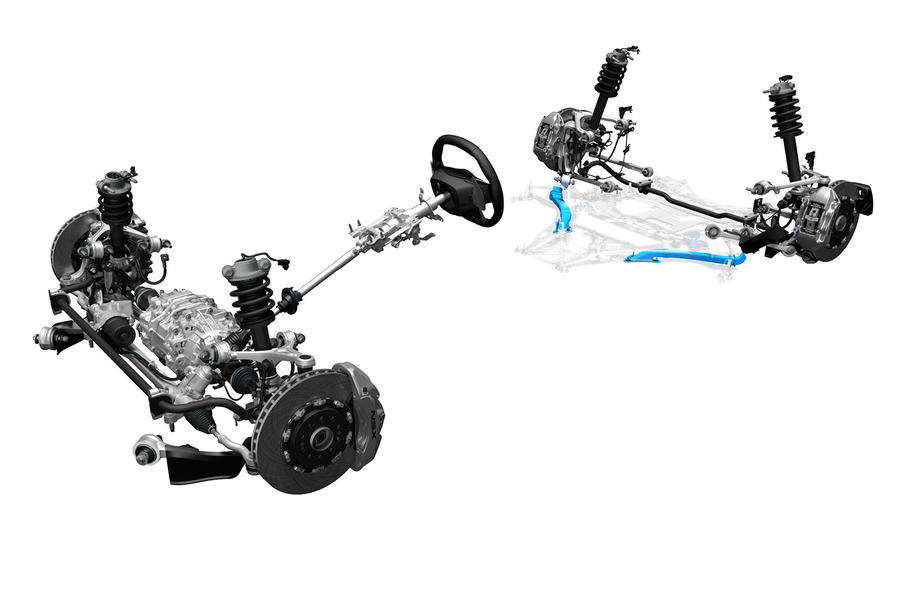 Honda NSX steering and suspension setup