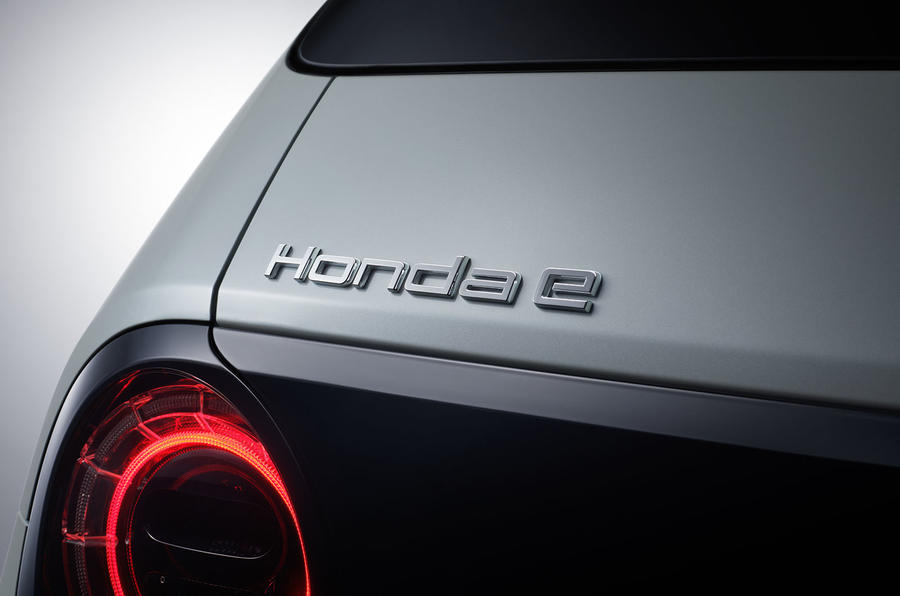 Honda e official production version - rear badge