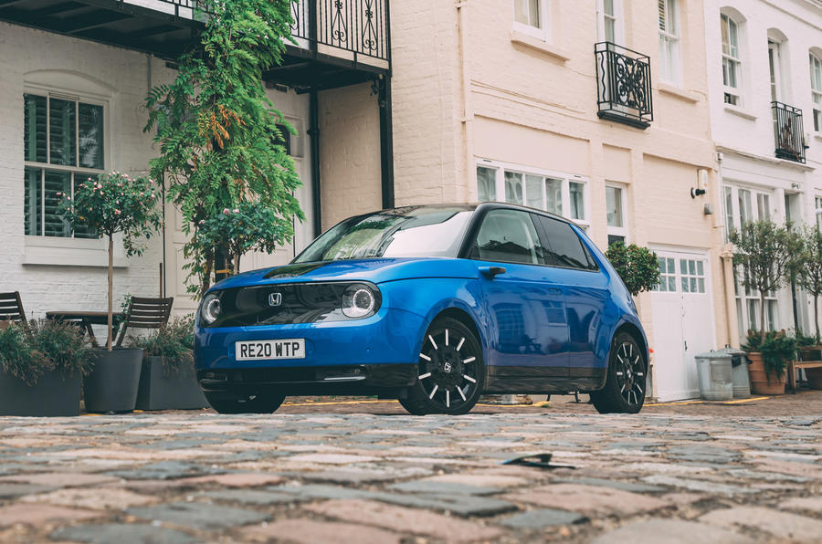 Britain's best in-car technology 2020 - Honda E static