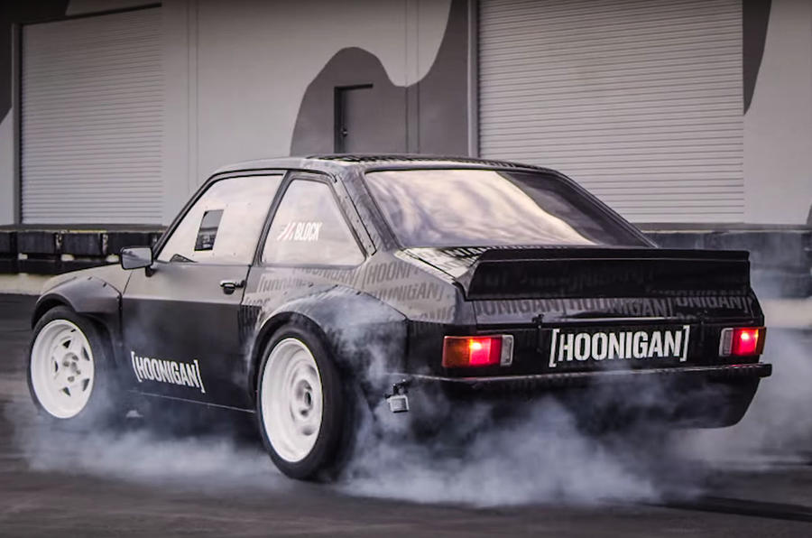 Hoonigan Escort >> Ken Block reveals Gymkhana Ford Escort Mk2 RS | Autocar
