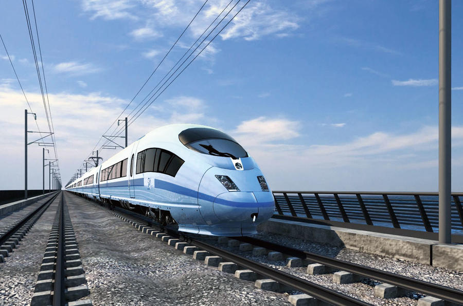 HS2 train render