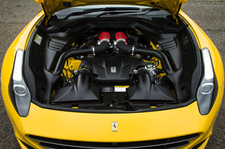 3.9-litre V8 Ferrari California T engine