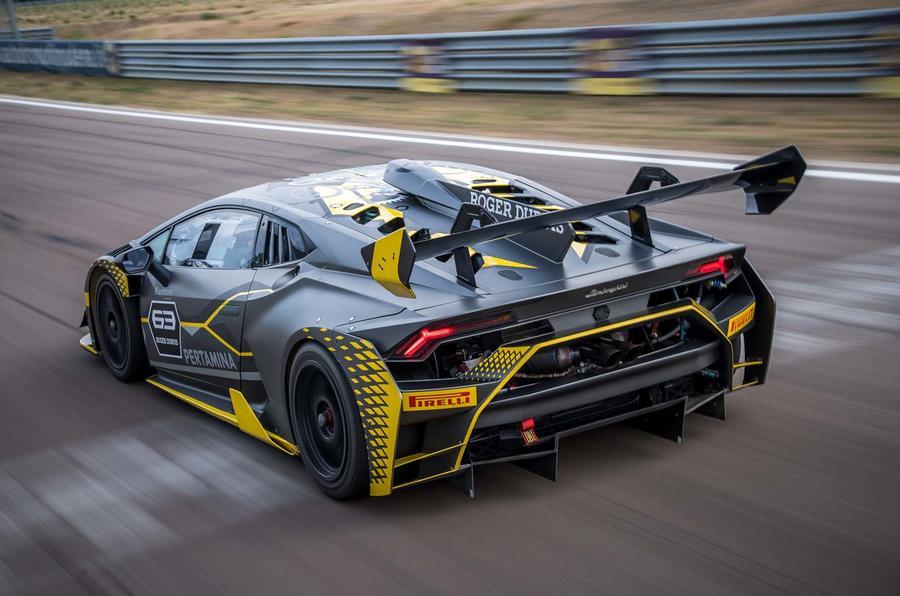 lamborghini huracan super trofeo evo revealed as new gt racer | autocar