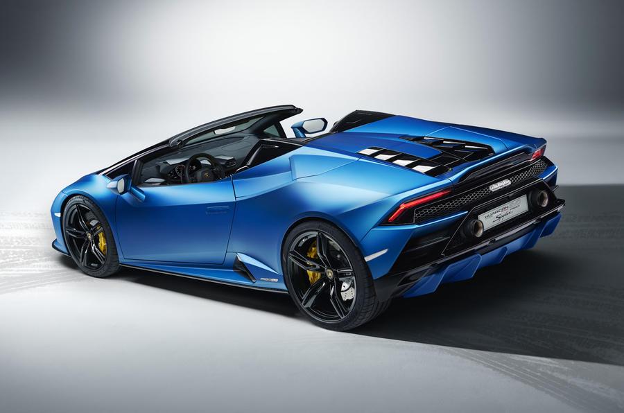 2020 Lamborghini Huracan Spyder - rear 3/4