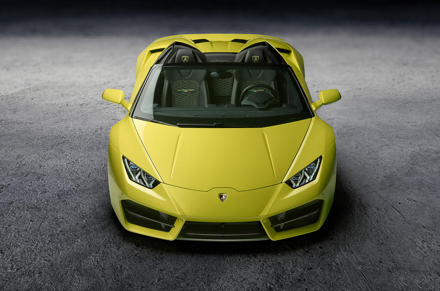 Lamborghini Huracan rear-wheel drive Spyder revealed at LA motor show