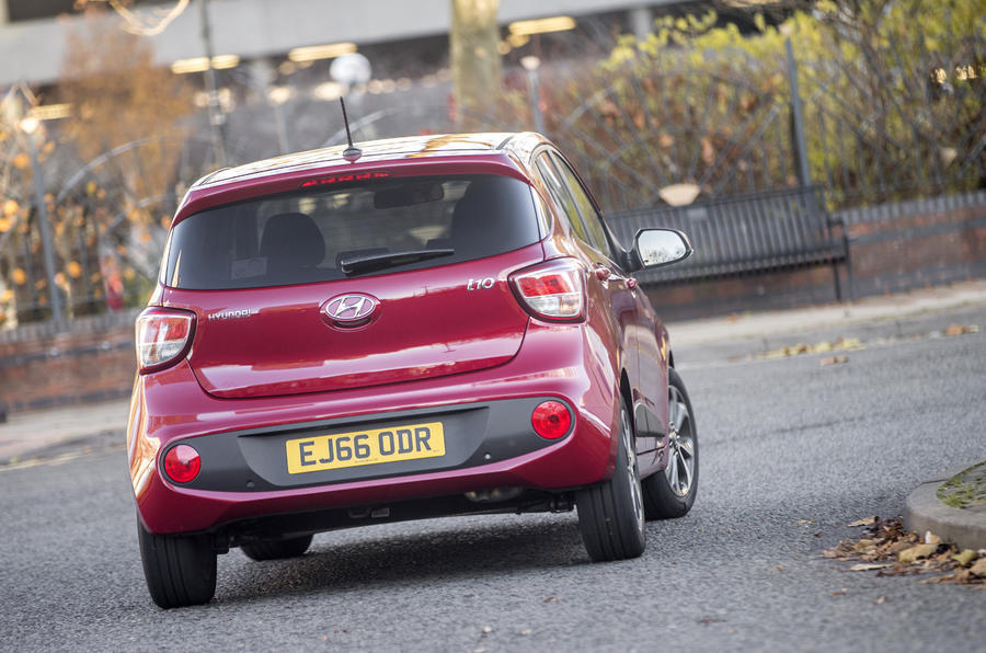 Hyundai i10 nearly-new buying guide - rear