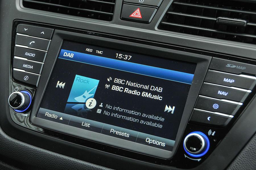Hyundai i20 infotainment system