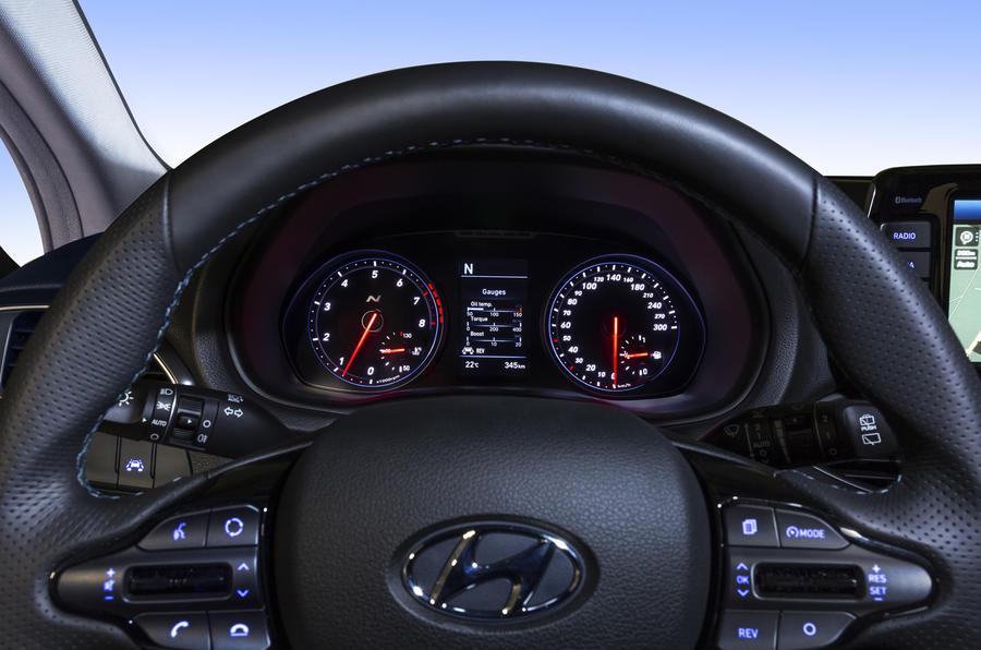 Hyundai i30N instrument cluster