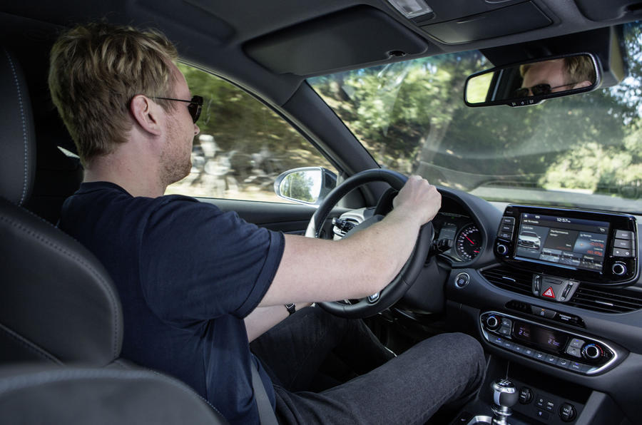 Richard Lane driving the Hyundai i30N