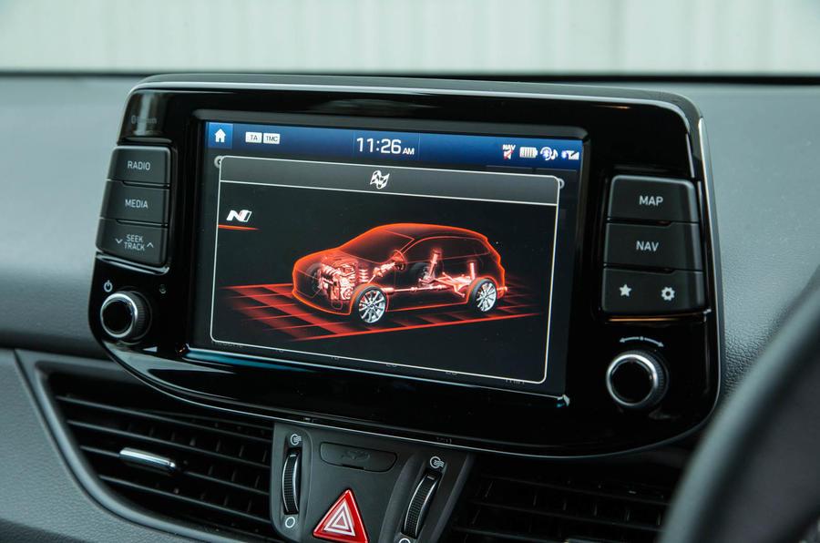 Volkswagen Golf GTI vs Hyundai i30n hyundai infotainment