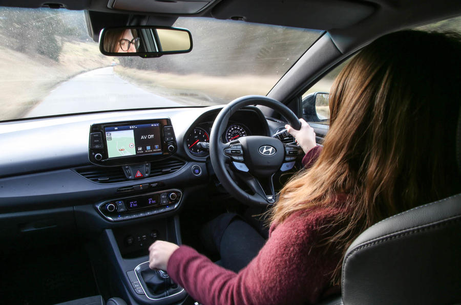 Volkswagen Golf GTI vs Hyundai i30n Rachel driving back seat