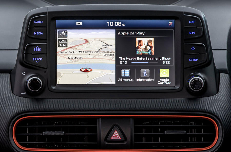 Hyundai Kona 1.0 T-GDi SE infotainment system