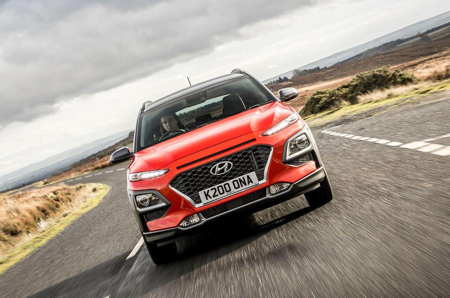 Hyundai Kona front motion