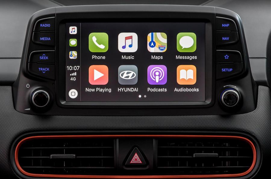 Hyundai Kona infotainment screen