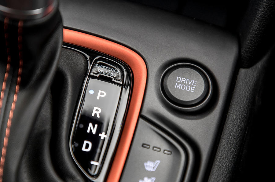 Hyundai Kona central console