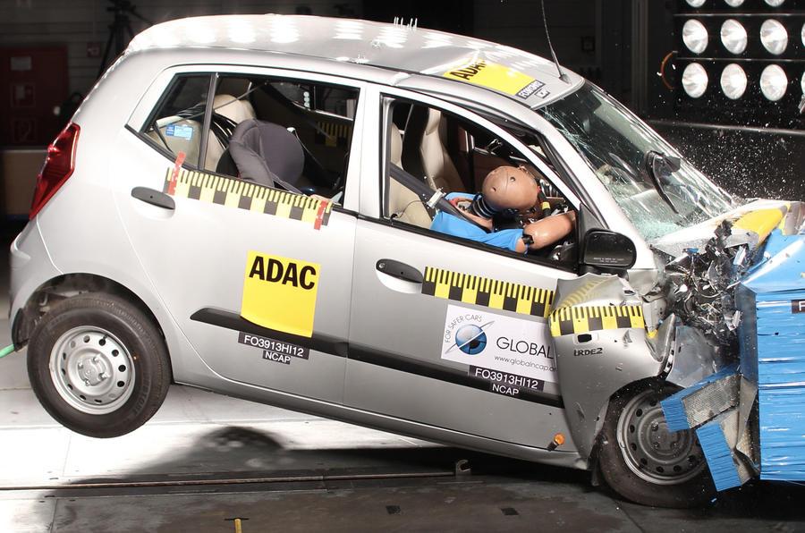 Hyundai i10 crash test