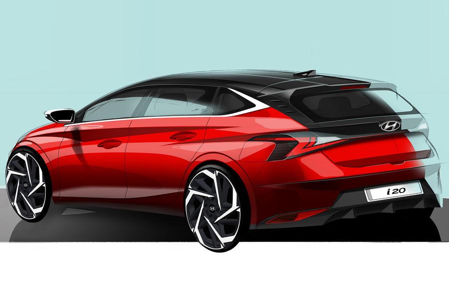 Hyundai i20 official sketch teaser - rear