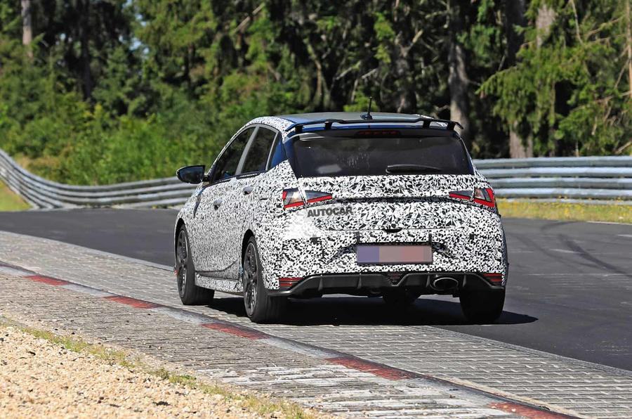 New Hyundai i20 N spyshot rear
