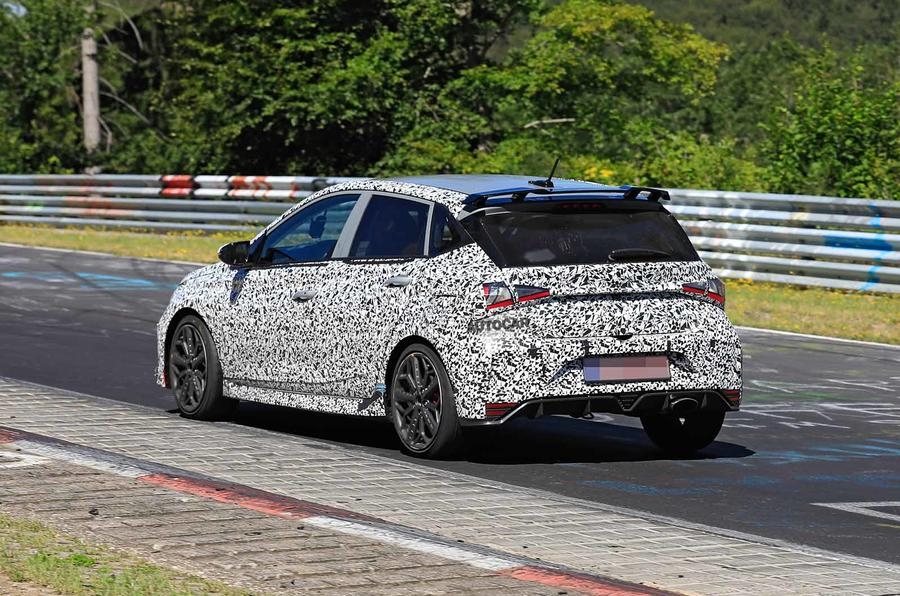 New Hyundai i20 N spyshot rear side