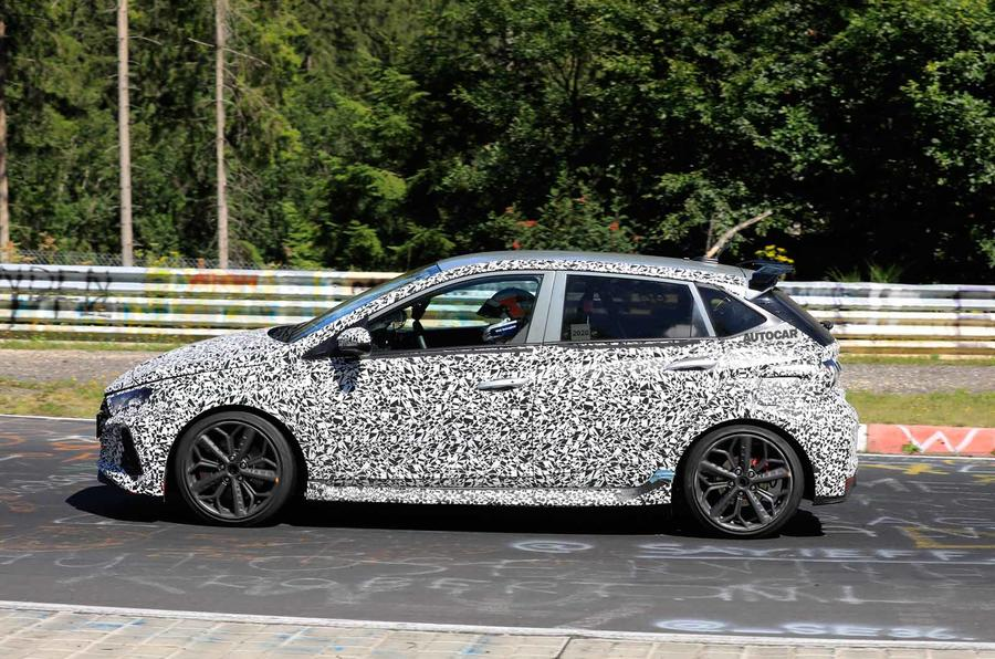 New Hyundai i20 N spyshot side on