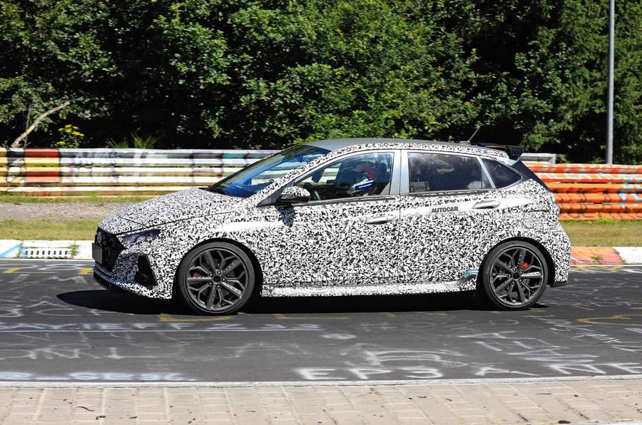New Hyundai i20 N spyshot side
