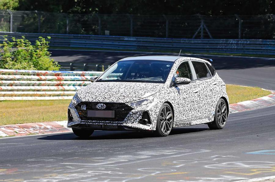 New Hyundai i20 N spyshot side front