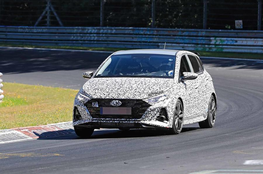 New Hyundai i20 N spyshot front side