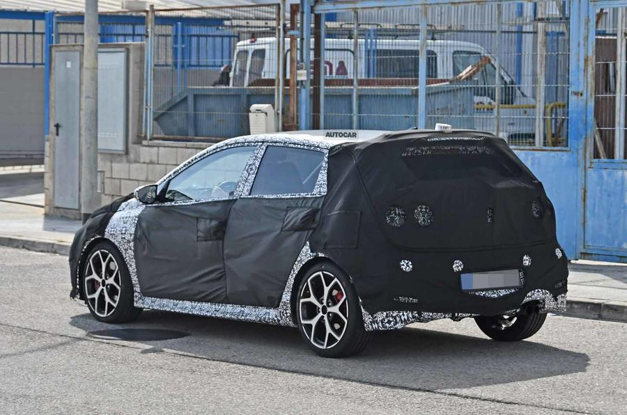Hyundai i20 N spyshot side rear