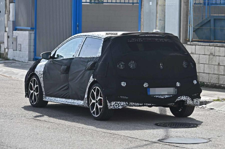 Hyundai i20 N spyshot  rear side