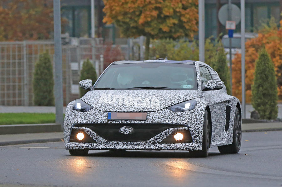 Hyundai RM16 N test mule spotted - road nose