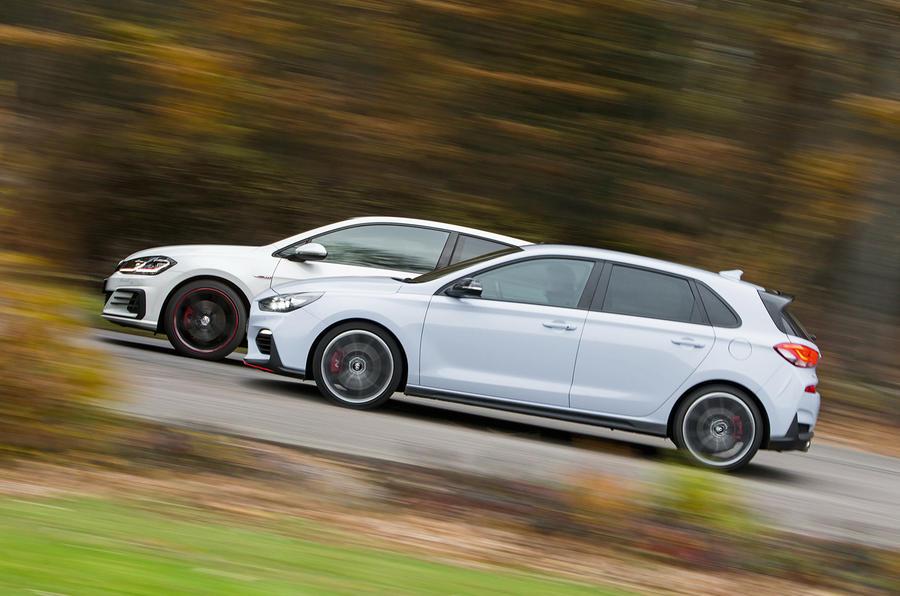 Volkswagen Golf GTI vs Hyundai i30n hero