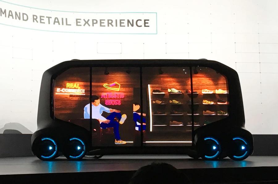 Toyota e-Palette concept previews new autonomous vehicle platform