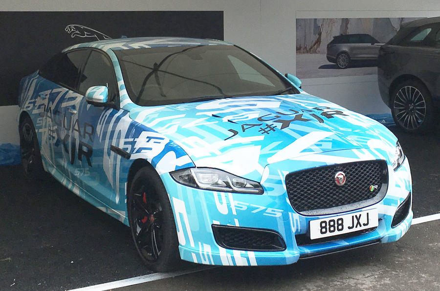 Jaguar XJR in wrap disguise