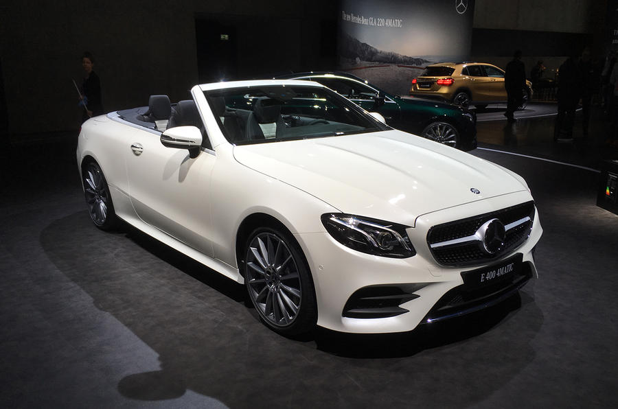 Mercedes benz e class cabriolet unveiled autocar for Mercedes benz top of the line