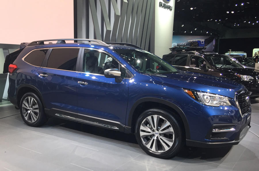 subaru launches new ascent large suv for us market autocar. Black Bedroom Furniture Sets. Home Design Ideas
