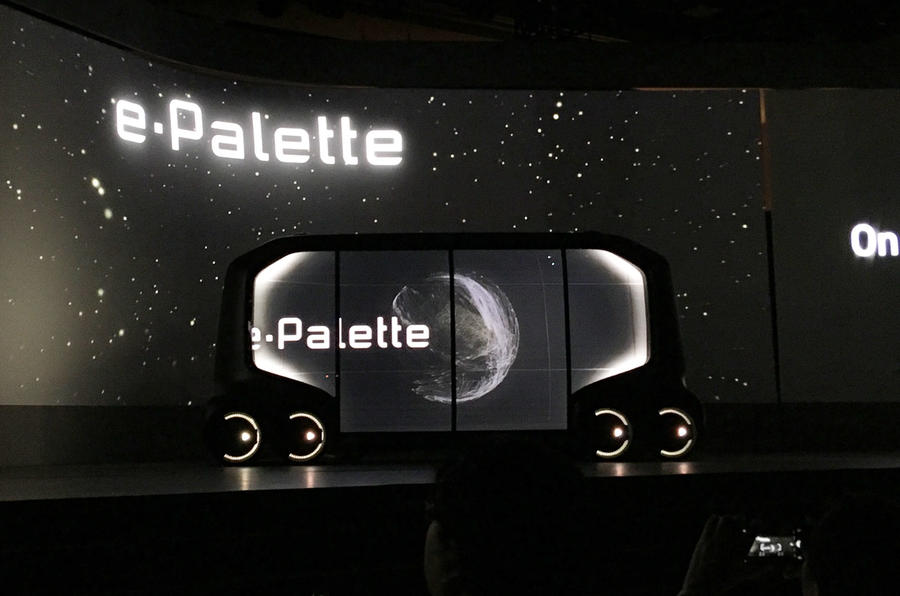 Toyota e-Palette concept previews new autonomous vehicle platform