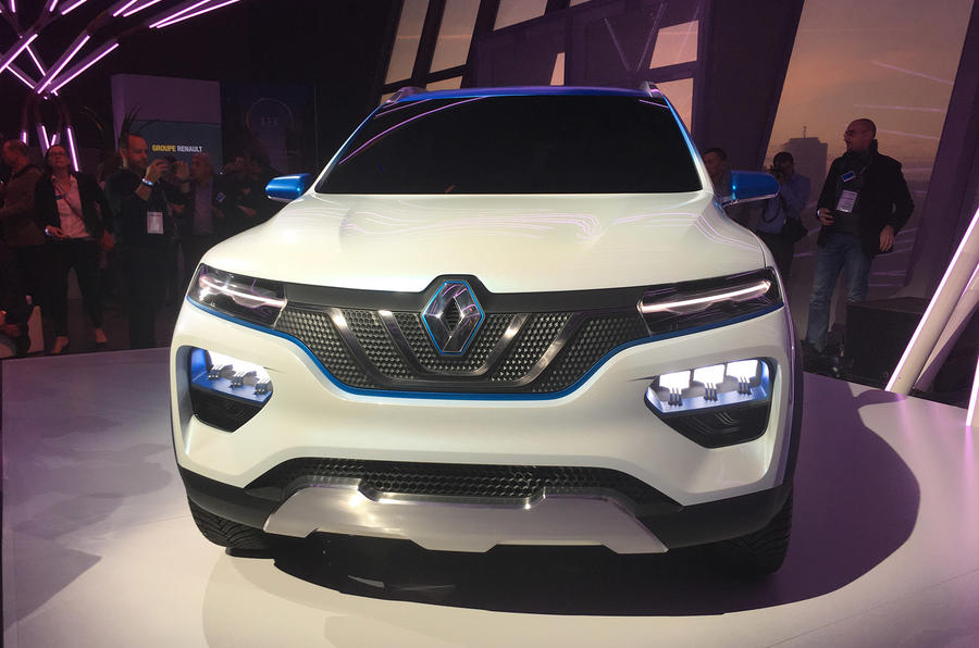 Renault K-Ze concept Paris Motor Show 2018 nose