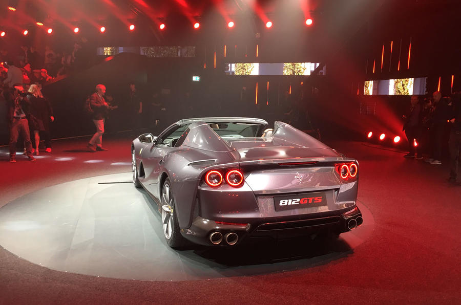 Ferrari 812 GTS reveal - static rear