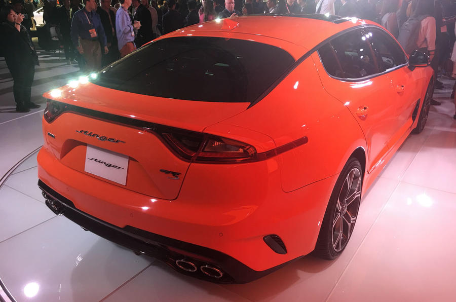 Kia Shows Off Special Edition Stinger GTS With Crazy Orange Paint