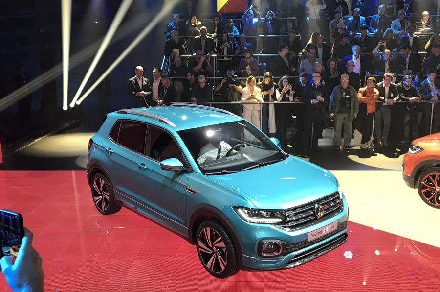 Volkswagen T-Cross 2019 official reveal event - blue