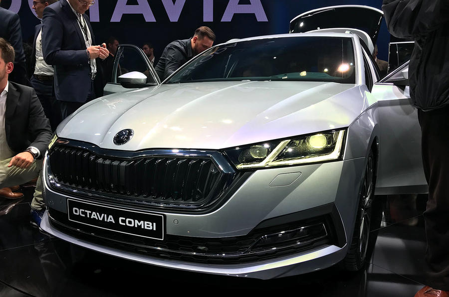Skoda Octavia 2020 estate official launch - front grille